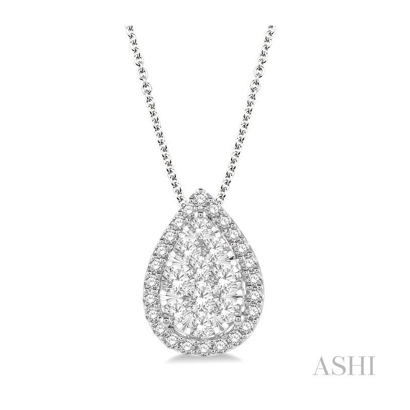 Gemstone Collection lovebright essential diamond pendant
