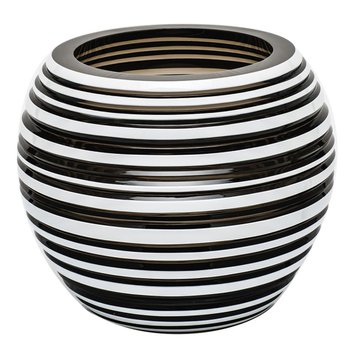 "Vase 7"" H Horizontal - Smoke & White"
