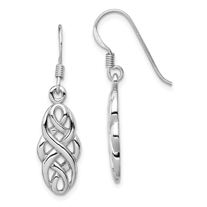 Quality Gold Sterling Silver Rhodium-plated Infinity Design Earrings