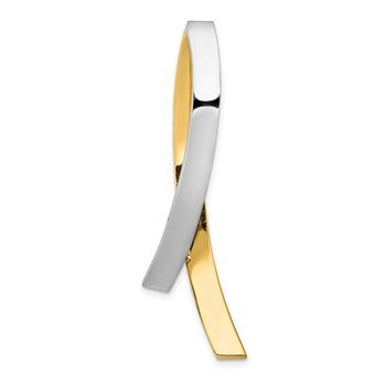14k Two-tone Contemporary Slide