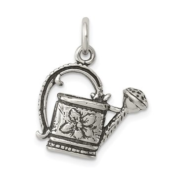 Sterling Silver Antiqued Watering Pot Charm