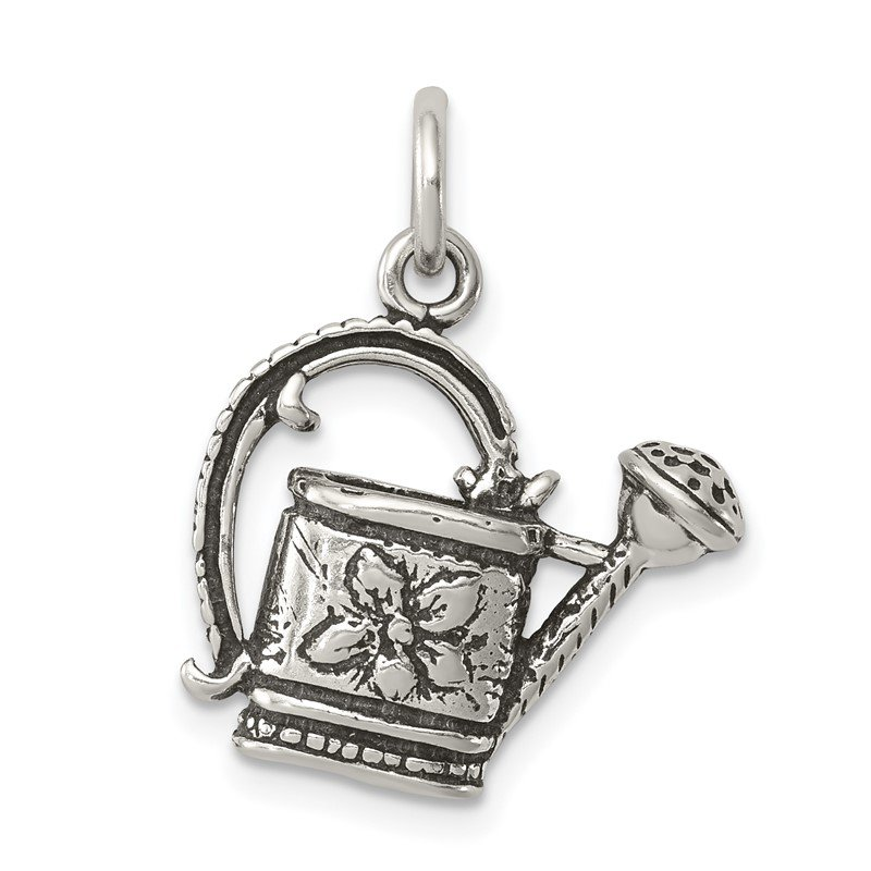 Quality Gold Sterling Silver Antiqued Watering Pot Charm