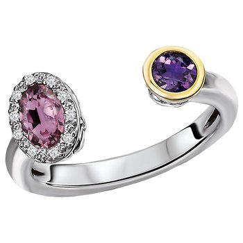 Ladies Gemstone and Diamond Ring