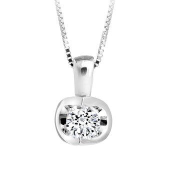 Half Moon Diamond Pendant