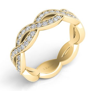Yellow Gold Pave Wedding Band