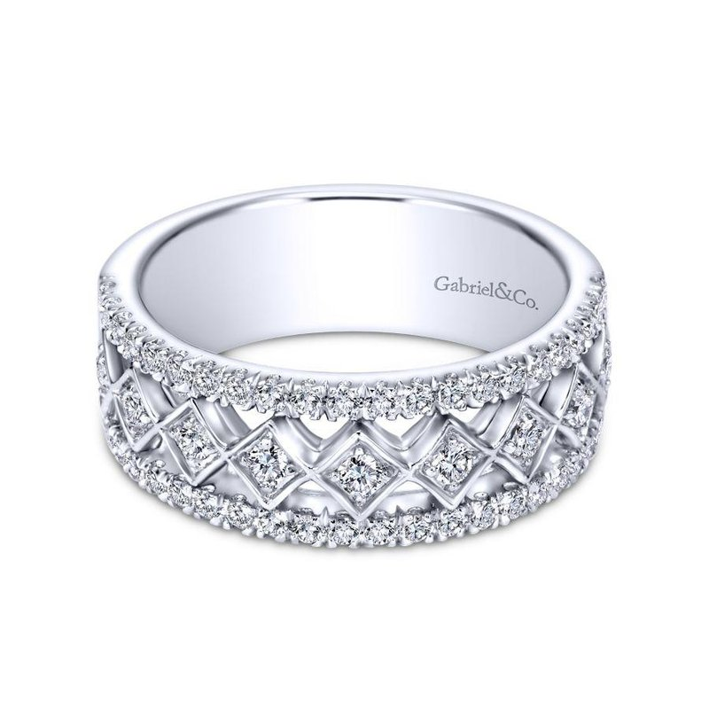 Gabriel Bridal Top Picks 14k White Gold Diamond Anniversary Band