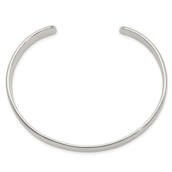 Sterling Silver 9.75mm Cuff Bangle Bracelet
