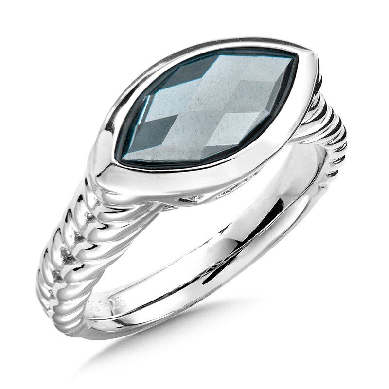 Colore Sg Sterling Silver Hematite Ring