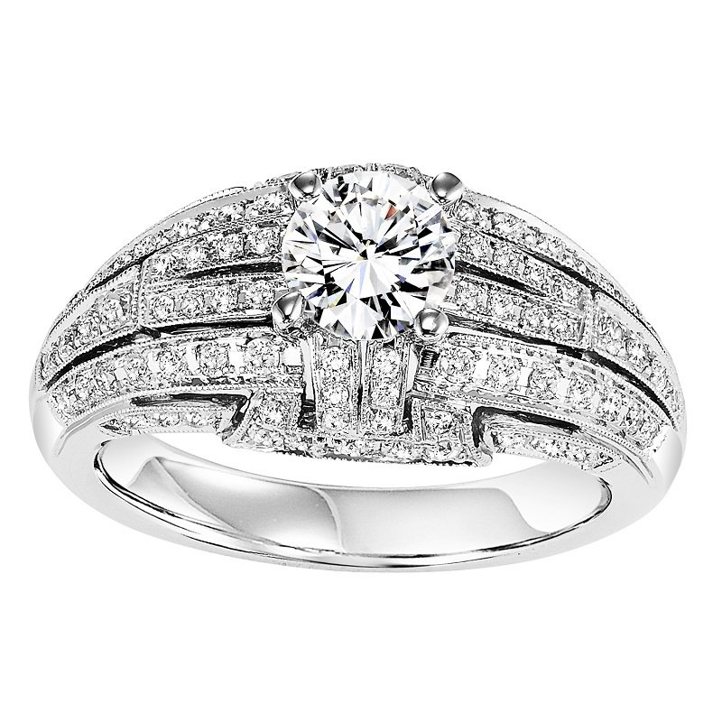 Bridal Bells 14K Diamond Engagement Ring 1/2 ctw with 5/8 ct center