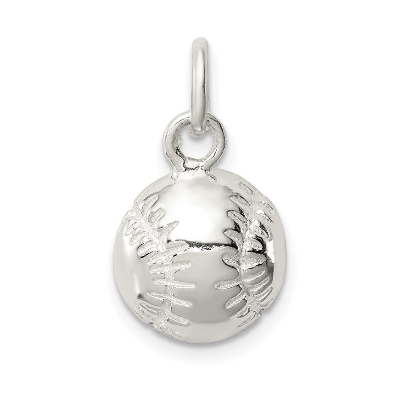 Quality Gold Sterling Silver BASEBALL Charm