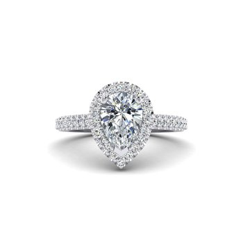 Pear Shaped Diamond Halo