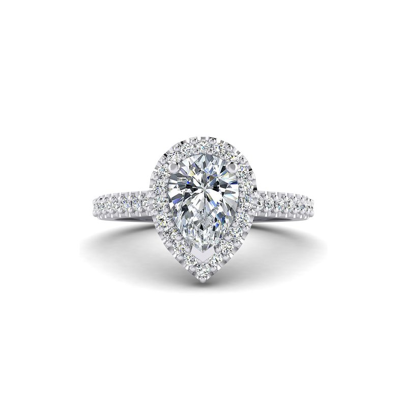 Toodie's Bridal Pear Shaped Diamond Halo