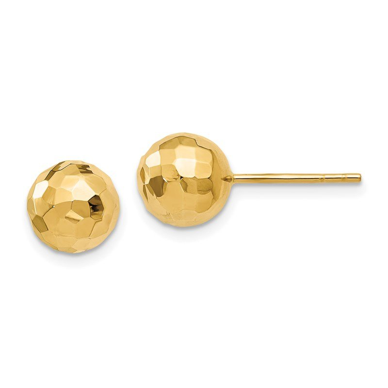 Leslie's Leslie's 14K Polished Faceted Post Earrings