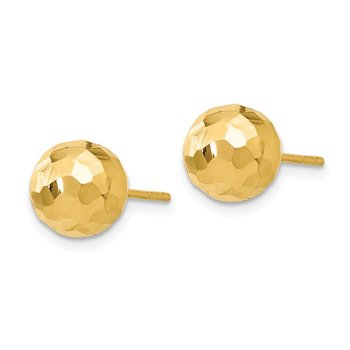 Leslie's 14K Polished Faceted Post Earrings