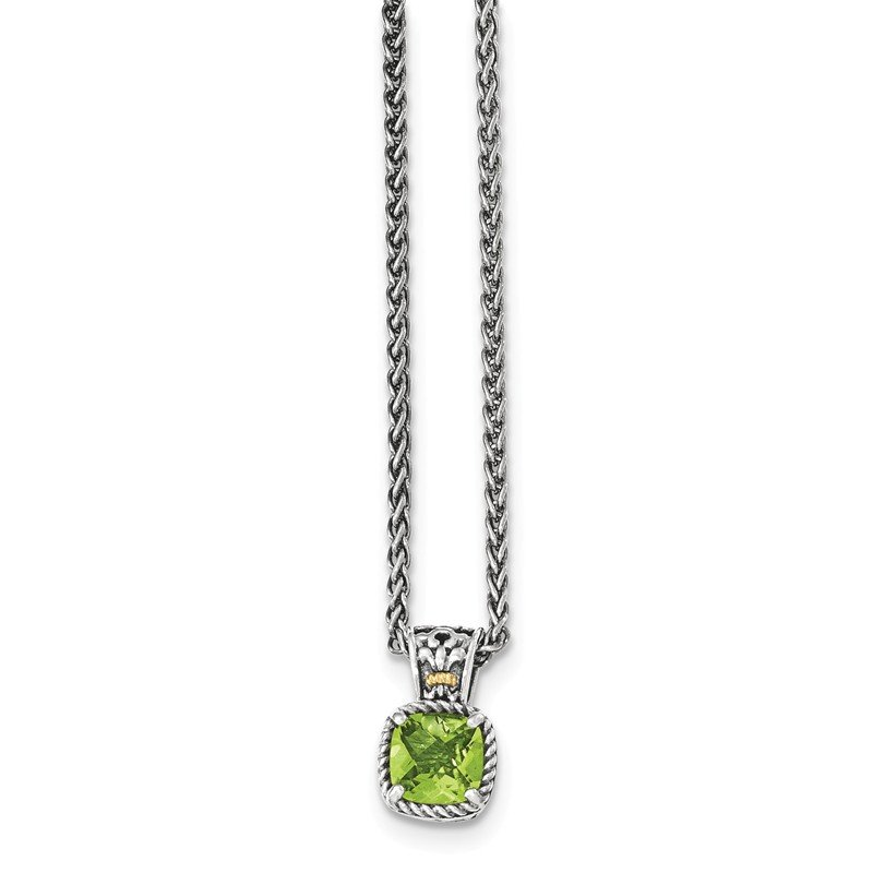 Shey Couture Sterling Silver w/14k Peridot Necklace