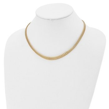 Leslie's 14k Polished Graduated Link Necklace