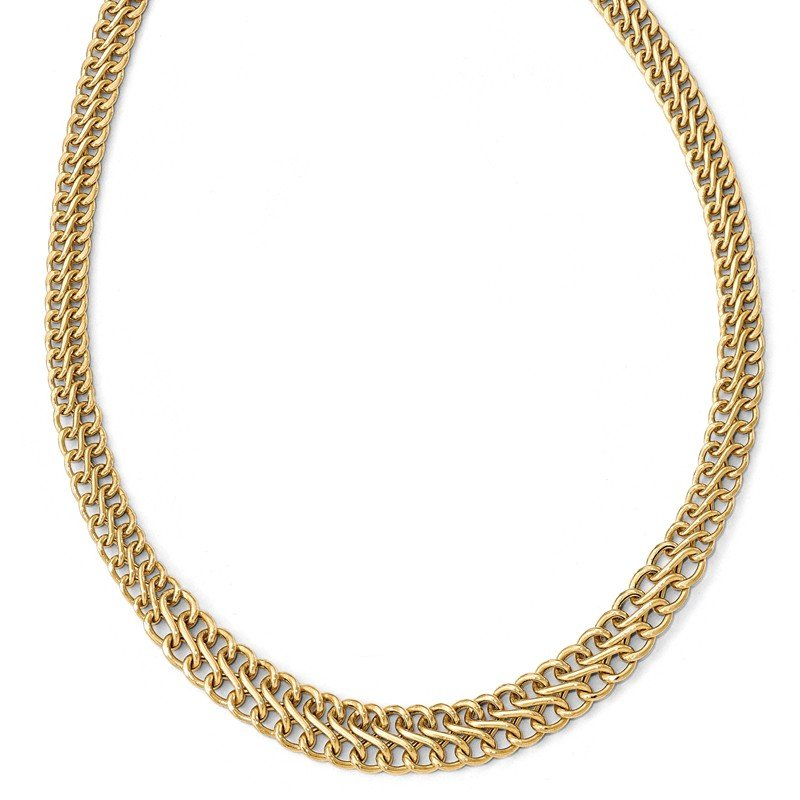 Leslie's Italian Gold Leslie's 14K Polished Graduated Link Necklace