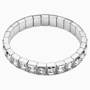 Fluid Bangle, Gray, Palladium plated