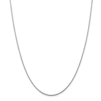 14k WG 1.25mm Round Parisian Wheat Chain
