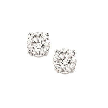 Diamond Stud Earrings in 18K White Gold (1/5 ct. tw.) I1/I2 - G/H