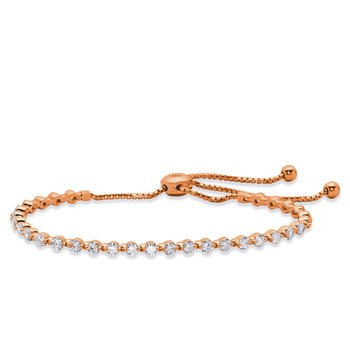 Rose Gold Bolo Diamond Bracelet