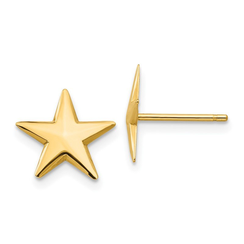 Fine Jewelry by JBD 14k Nautical Star Post Earrings
