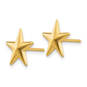14k Nautical Star Post Earrings
