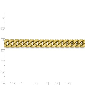 10k 9.3mm Semi-Solid Miami Cuban Chain