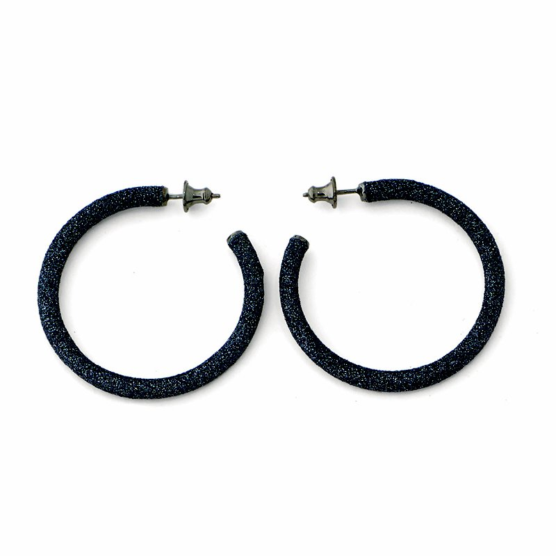 Pesavento Small Polvere Di Sogni Hoop Earrings - Dark Gray Polvere & Ruthenium