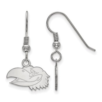 Sterling Silver University of Kansas NCAA Earrings