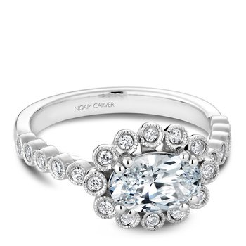 Noam Carver Floral Engagement Ring B221-01A