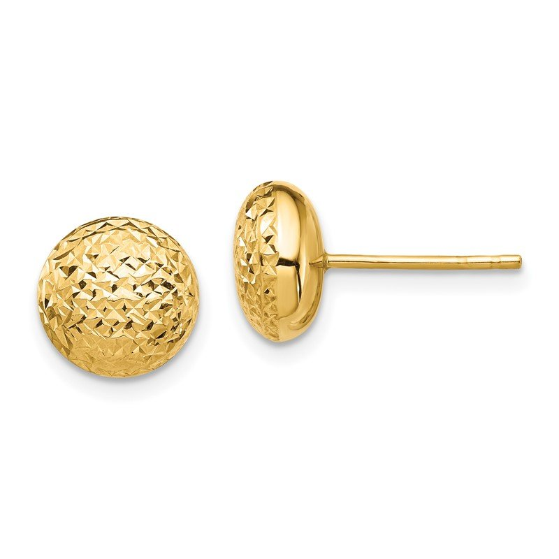 Quality Gold 14K Textured Hollow Post Earrings