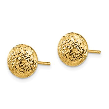 14K Textured Hollow Post Earrings