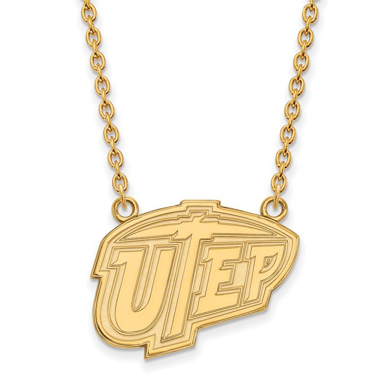 NCAA Gold-Plated Sterling Silver University of Texas at El Paso NCAA Necklace