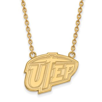 Gold-Plated Sterling Silver University of Texas at El Paso NCAA Necklace