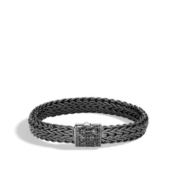 Classic Chain 11MM Bracelet, Blackened Silver