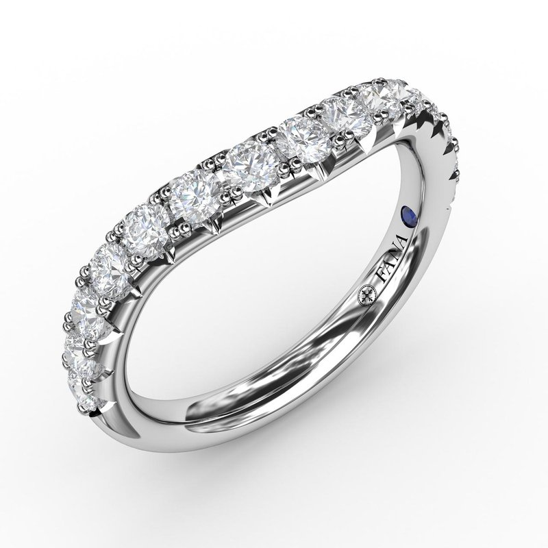 Fana 2/3ct French Pave Set Contour Diamond Band