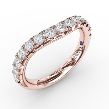 2/3ct French Pave Set Contour Diamond Band