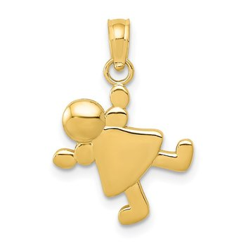 14k Little Girl Charm