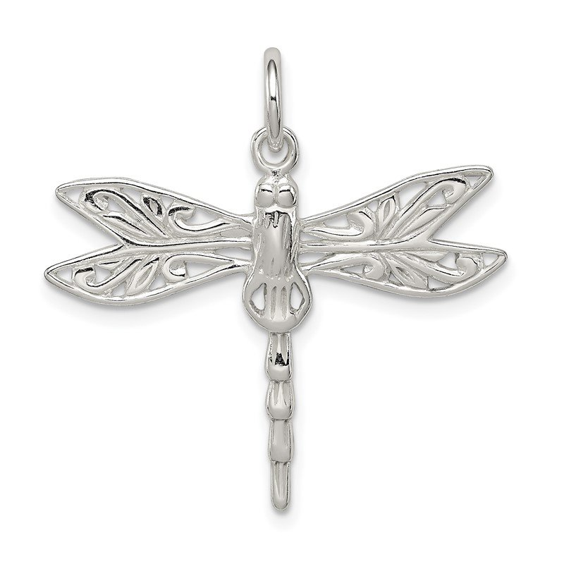 Quality Gold Sterling Silver Dragonfly Charm