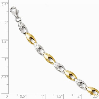 Leslie's 14k Two-tone Diamond-cut Bracelet