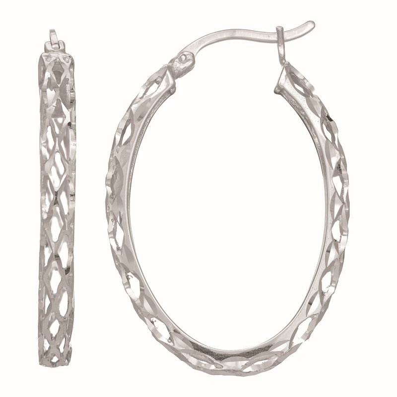 Royal Chain Silver Oval Birdcage Earring