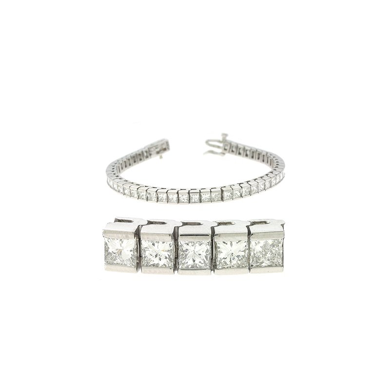 S. Kashi  & Sons Princess Cut Bracelet