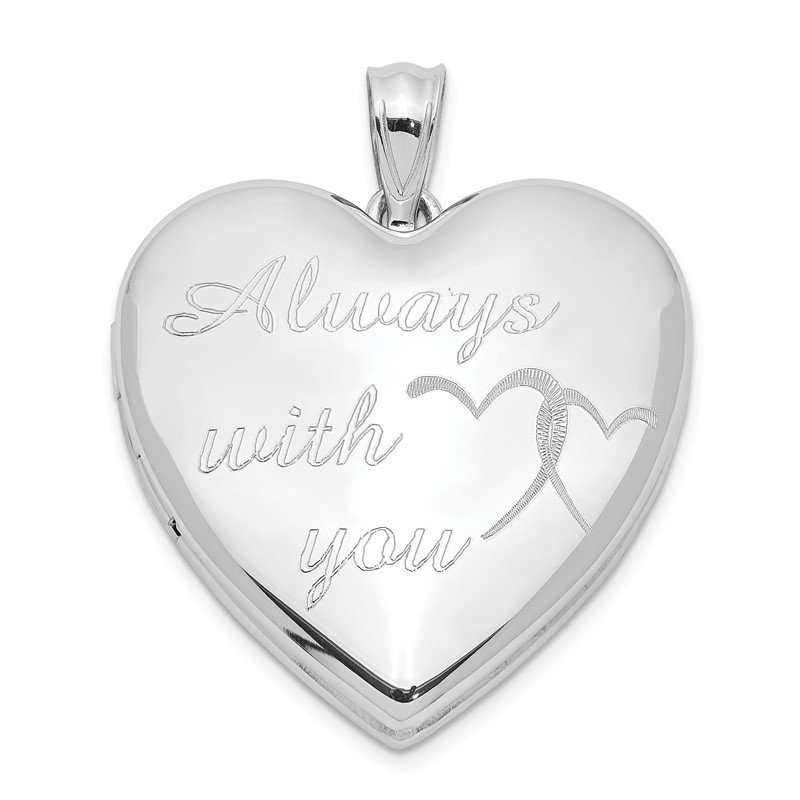 Quality Gold Sterling Silver Rhodium-plated Always With You Ash Holder Heart Locket