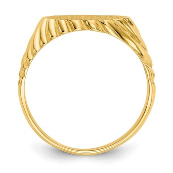 14k 7.5x10.0mm Open Back Signet Ring