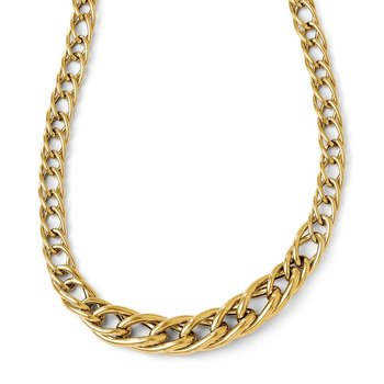 Leslie's 14k Polsihed Fancy Link w/ 2in ext. Necklace