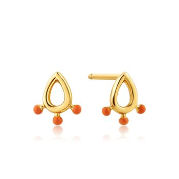 Dotted Raindrop Stud Earrings