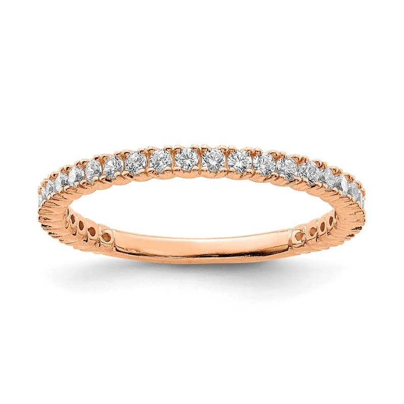 Quality Gold Sterling Silver Rose Gold-plated 28 Stone CZ Ring