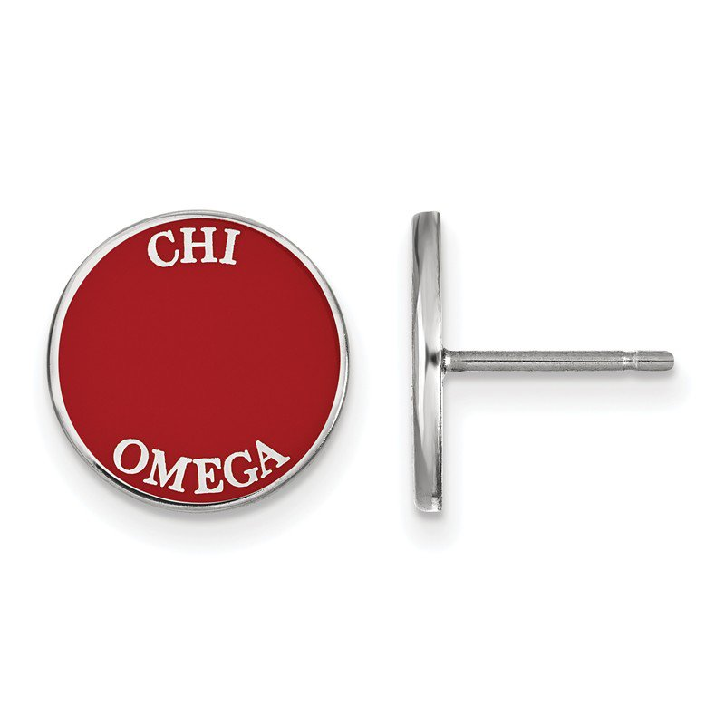Greek Life Sterling Silver Chi Omega Greek Life Earrings