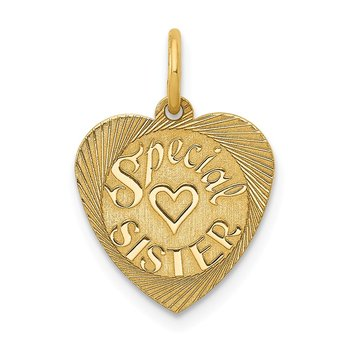 14K Special Sister Charm